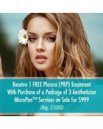 Aesthetician MicroPen™ Services + Plasma (PRP) Treatment (